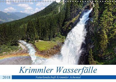 Krimmler Wasserfälle - Naturlandschaft Krimmler Achental (Wandkalender 2018 DIN A3 quer) Dieser erfolgreiche Kalender wu, Anja Frost