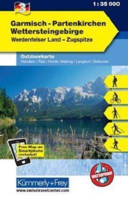Kümmerly & Frey Outdoorkarte Garmisch-Partenkirchen, Wettersteingebirge