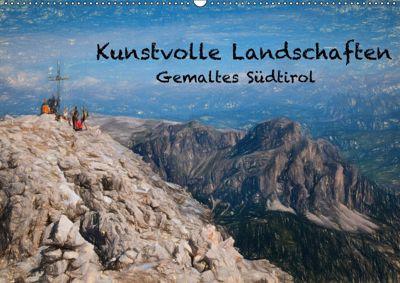 Kunstvolle Landschaften - Gemaltes Südtirol (Wandkalender 2018 DIN A2 quer), Georg Niederkofler