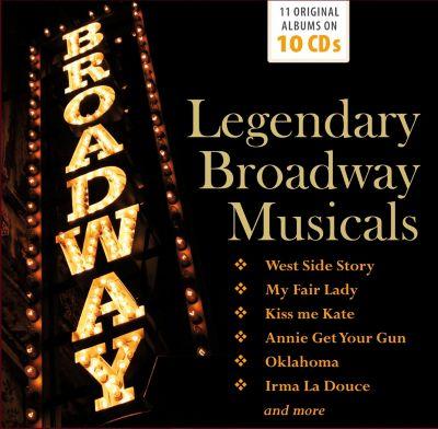 Legendary Broadway Musicals, 10 CDs, Various