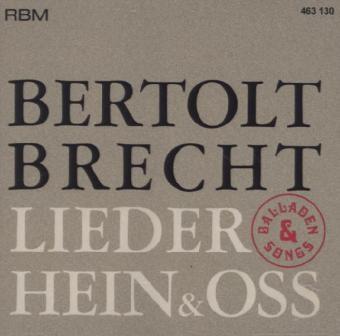 Lieder, Balladen und Songs, Bertolt Brecht