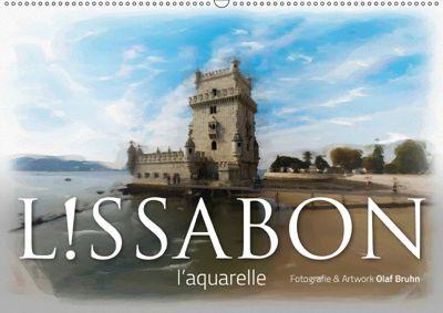 Lissabon l'aquarelle (Wandkalender 2018 DIN A2 quer), Olaf Bruhn