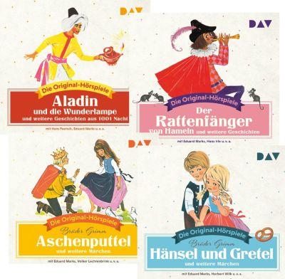 Märchen und Geschichten, 4 CDs, Jacob & Wilhelm Grimm