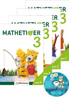 Mathetiger, Neubearbeitung 2016: Bd.3 3. Schuljahr, Heftausgabe, 4 Bde. + CD-ROM, Matthias Heidenreich, Thomas Laubis, Eva Schnitzer