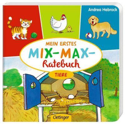 Mein erstes Mix-Max-Ratebuch - Tiere, Stefanie Vogt