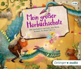 Mein großer Hörbuchschatz, 3 Audio-CDs, Paul Maar, Erhard Dietl, Lars Klinting, Christoph Schöne, Ulrike Rogler, Maja Von Vogel, Udo Weigelt, Fröhlich