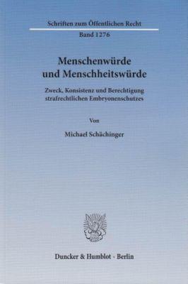 Menschenwürde und Menschheitswürde, Michael Schächinger