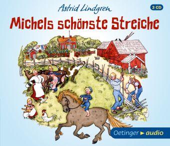 Michels schönste Streiche, 3 Audio-CDs, Astrid Lindgren