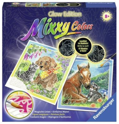 Mixxy Colors Glow Edition, Bildgröße 25 x 25 cm: Tierliebe