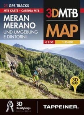 Mountainbike-Karte Meran und Umgebung; Cartina Mountainbike Merano e Dintorni