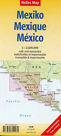 Nelles Map Landkarte Mexico - Produktdetailbild 1