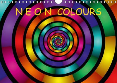 Neon Colours / UK-Version (Wall Calendar 2018 DIN A4 Landscape), gabiw Art