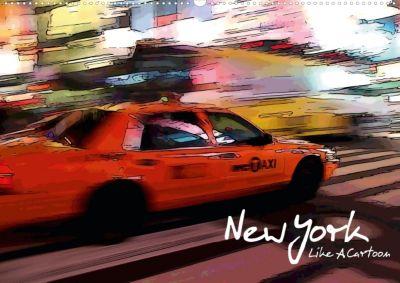 New York Like A Cartoon (Posterbuch DIN A2 quer), Reiner Silberstein
