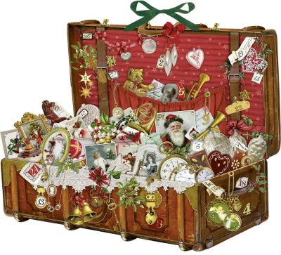 Nostalgischer Weihnachtskoffer; Nostalgic Christmas Suitcase; La valise nostalgique de Noël