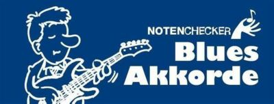 Notenchecker Blues-Akkorde für Gitarre, Mini-Fächer