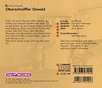 Oberschnüffler Oswald, 2 Audio-CDs - Produktdetailbild 1