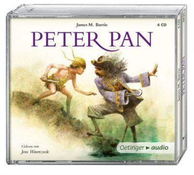 Peter Pan, 4 Audio-CDs, James Matthew Barrie