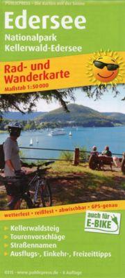 PublicPress Rad- und Wanderkarte Edersee, Nationalpark Kellerwald-Edersee