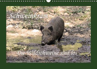 Schweinkram - Die Wildschweine sind los (Wandkalender 2018 DIN A3 quer), Antje Lindert-Rottke