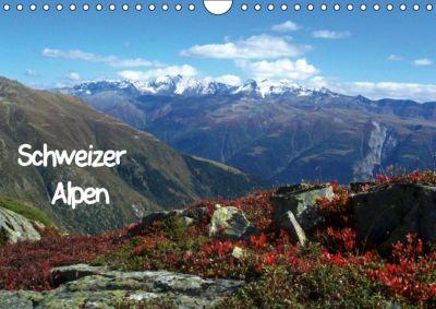 Schweizer Alpen (Wandkalender immerwährend DIN A4 quer), Andrea Pons
