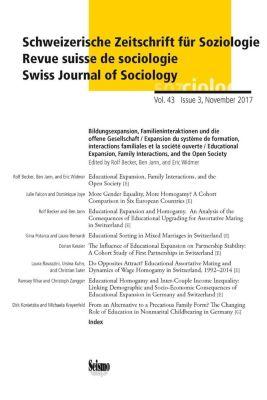 Schweizerische Zeitschrift für Soziologie: H.43/3 Bildungsexpansion, Partnerschaft und Familie