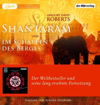 Shantaram und Im Schatten des Berges, 7 MP3-CD, Gregory D. Roberts