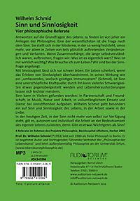 Sinn und Sinnlosigkeit, MP3-CD - Produktdetailbild 1