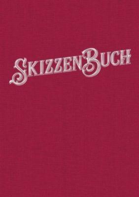 Skizzenbuch Rubinrot, noovio