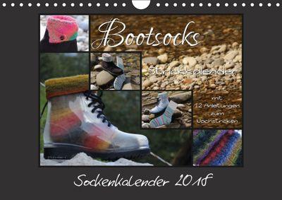 Sockenkalender Bootsocks 2018 (Wandkalender 2018 DIN A4 quer), Denise Borer