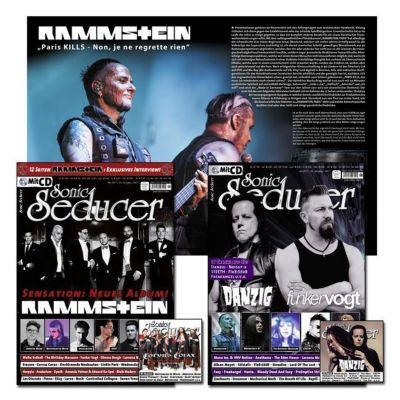 Sonic Seducer: Ausg.2017/05+06 Titelstory Rammstein / Titelstorys Danzig und Funker Vogt, m. 2 Audio-CDs