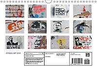 STENCIL ART 2018 - Schablonen Graffiti (Wandkalender 2018 DIN A4 quer) - Produktdetailbild 13