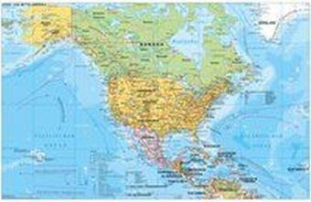 Stiefel Wandkarte Großformat Nord- und Mittelamerika politisch, Heinrich Stiefel