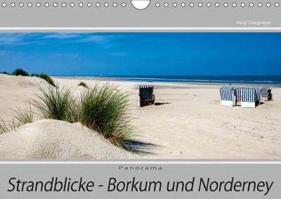 Strandblicke Borkum und Norderney (Wandkalender 2018 DIN A4 quer), Hardy Dreegmeyer