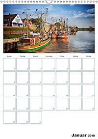 Terminplaner, Ostfriesland, die alten Häfen - Greetsiel, Neuharlingersiel, Carolinensiel (Wandkalender 2018 DIN A3 hoch) - Produktdetailbild 1