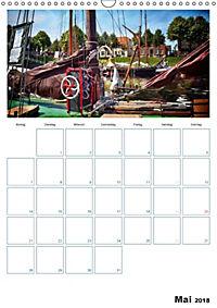 Terminplaner, Ostfriesland, die alten Häfen - Greetsiel, Neuharlingersiel, Carolinensiel (Wandkalender 2018 DIN A3 hoch) - Produktdetailbild 5