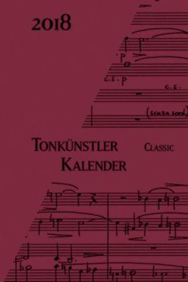 Tonkünstler-Kalender Classic, Taschenkalender 2018