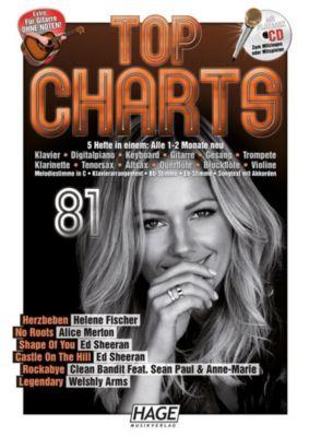 Top Charts, m. Audio-CD, HAGE Musikverlag