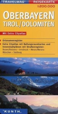 Travelmag Reisekarten: Travelmag Reisekarte Oberbayern, Tirol, Dolomiten