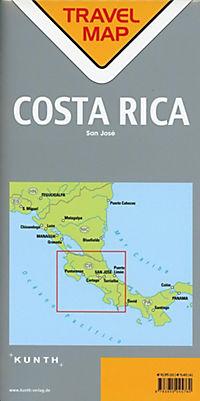Travelmap Reisekarte Costa Rica 1:700.000 - Produktdetailbild 1