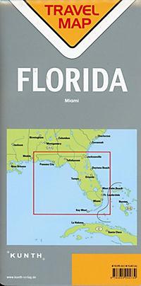 Travelmap Reisekarte Florida 1:800.000 - Produktdetailbild 1