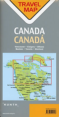 Travelmap Reisekarte Kanada / Canada 1:4 Mio - Produktdetailbild 1