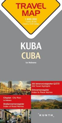 Travelmap Reisekarte Kuba / Cuba 1:800.000