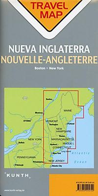 Travelmap Reisekarte Neuengland / New England 1:800.000 - Produktdetailbild 1