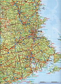 Travelmap Reisekarte Neuengland / New England 1:800.000 - Produktdetailbild 2