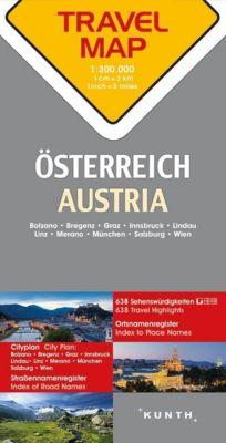 Travelmap Reisekarte Österreich 1:300.000; Austria; Autriche