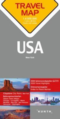Travelmap Reisekarte USA 1:4 Mio