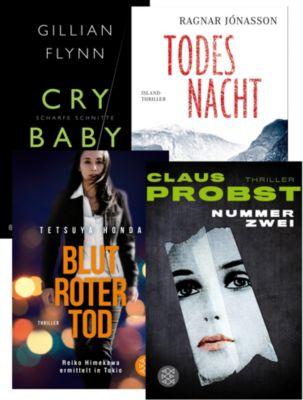 Vier Krimis im Set: Flynn / Jonasson / Probst / Honda, 4 Bände, Gillian Flynn, Ragnar Jonasson, Claus Probst, Tetsuya Honda