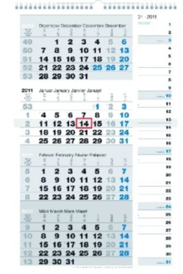 Vier-Monatskalender Kombi 2019