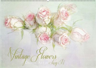 Vintage Flowers (Wandkalender 2018 DIN A2 quer), Lizzy Pe
