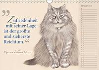Von Katzen lernen (Wandkalender 2018 DIN A4 quer) - Produktdetailbild 1